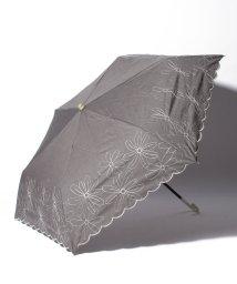 Afternoon Tea LIVING/シャンブレーフラワー刺繍晴雨兼用折りたたみ傘 日傘/503083372