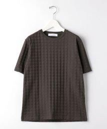 green label relaxing/ET ハウンドトゥース リンクス クルーネック 半袖 Tシャツ/503121654