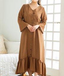 Coquette Anna/裾切り替えドット柄ワンピース/503124912