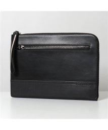 BALLY/【BALLY バリー】 TYSON 380 レザー クラッチバッグ ドキュメントケース 鞄 Black メンズ/503127668