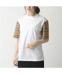 BURBERRY/【BURBERRY(バーバリー)】8014896 ヴィンテージチェック 切替 コットン 半袖 Tシャツ カットソー WHITE レディース/503127677