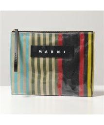 MARNI/【MARNI(マルニ)】PHMO0003Q0 P2740 STY50 GLOSSY GRIP Mサイズ PVC ストライプ クラッチバッグ ポーチ 鞄 レディー/503127759