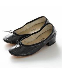 PORSELLI/【PORSELLI(ポルセリ)】DE NAPPA イタリア製 バレエ ナッパレザー 3cmヒール バレエシューズ パンプス リボン ラウンドトゥ NERO 靴 /503127790