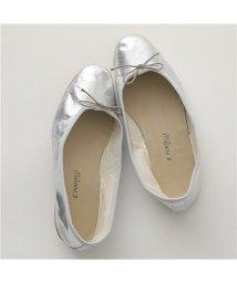 PORSELLI/【PORSELLI(ポルセリ)】DS LAMINATO レザー バレエシューズ フラットパンプス 靴 SILVER レディース/503127791