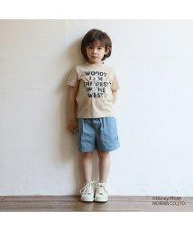 b-ROOM/TOY STORYウッディ/バズロゴTシャツ/503130015