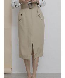 TONAL/ フラップポケットロングタイトスカート/503130563