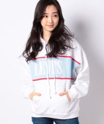 LEVI'S LADY/CAMERON HOODIE LEVI CHEST HIT WHITE/BABY/503132379