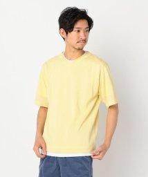 GLOSTER/12G CHARIOTレイヤードニット 半袖Tシャツ付/503134494