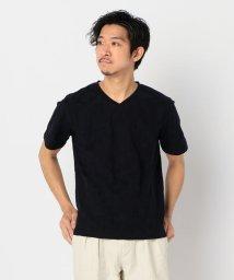 GLOSTER/幾何学リンクスVネックTシャツ/503134495