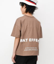 RAT EFFECT/ボックス転写プリント&バックロゴ半袖Tシャツ/503146043