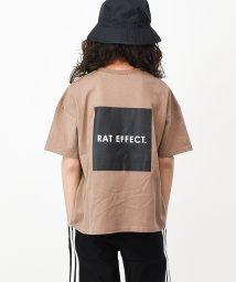 RAT EFFECT/バックボックスプリント半袖Tシャツ/503146045