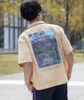 Nylaus/NYLAUS ビッグシルエット バックプリント ロゴ フォト 半袖 オープンカラー オ-バーシャツ/503147073