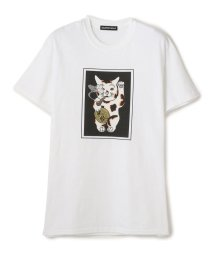 LHP/Delivery Hells/デリバリーヘルス/別注 LUCKY CAT S/S T-SHIRTS/グラフィックプリントTシャツ(FLAGSTUF-F/フラグス/503147179