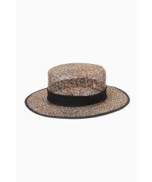 ROSE BUD/レオパード柄カンカン帽/503147500