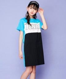 SISTER JENNI/【ニコ☆プチ6月号掲載】カラーブロックバックZIPロゴワンピ/503148478