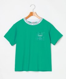 PINK-latte/襟ロゴビニポケTシャツ/503149967