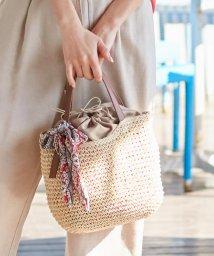 anySiS/【美人百花6月号掲載】スカーフ付き ベルトポイント かごバッグ/503150168
