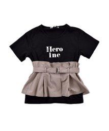 ZIDDY/天竺ビスチェ風ベルト付きTシャツ/503091832