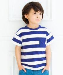 birthday party/ベア天竺ボーダー半袖ポケットT(100cm~130cm)/503116880