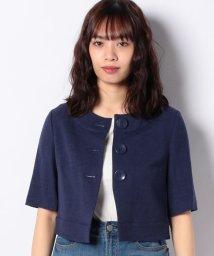 SISLEY/リネン混半袖ミニジャケット/503138129