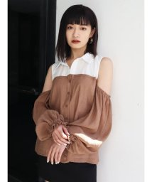 EMODA/ドッキングバルーンスリーブシャツ/503140008