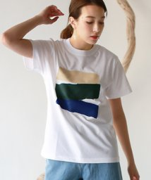 REAL CUBE/デザインペイントTシャツ/503140292