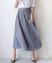 REAL CUBE/ギンガムチェック切替デザインスカート/503140293