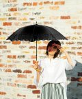 TIMELESS COMFORT/TC LONG PARASOL Punching Lace Embroidery BE90712 日傘 UVカット/503152546