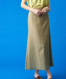 TOMORROWLAND collection/メランジリネン セミマーメイドスカート/503152589
