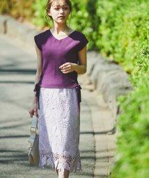 Noela/【Ray7・8月号掲載】リーフレーススカート/503153367