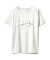 gelato pique/シンプルレーヨンロゴTシャツ/503153407