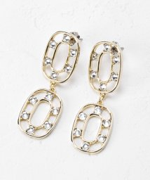 Perle Peche OUTLET/Jewel Casketダブルリングピアス/503153938