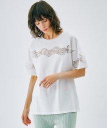 LANVIN en Bleu/エンブロイダリーレースTシャツ/503022881