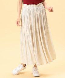 NICOLE white/ヴィンテージサテンケシプリーツスカート/503129038