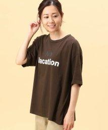 Grand PARK/2配色ロゴプリントTシャツ/503129058