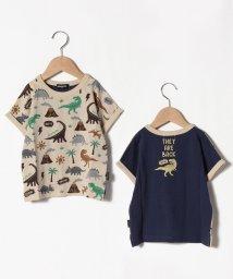 kladskap/接触冷感 恐竜柄切り替えTシャツ/503137879