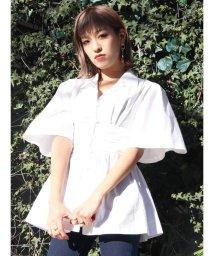 EMODA/オープンカラーペプラムシャツ/503140009
