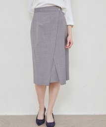 TONAL/ ウォッシャブルウールアシメタイトスカート/503146393