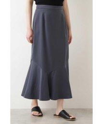 NATURAL BEAUTY BASIC/サテンマーメイドスカート/503154650