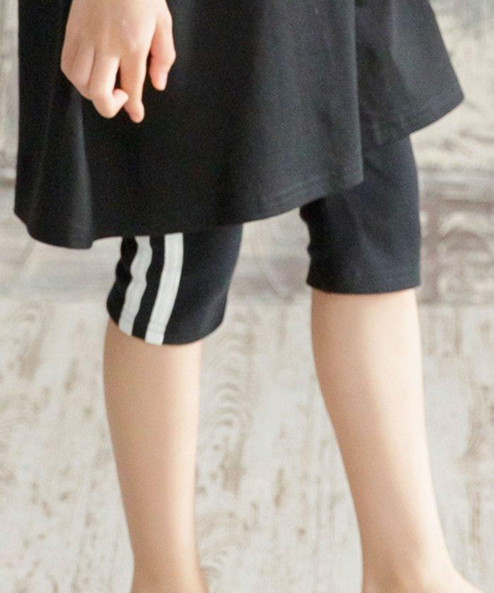 【50%OFF】 子供服ビー レギンス キッズ ブラック 150cm 【子供服Bee】 【セール開催中】