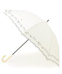 grove/because 晴雨兼用 スカラップフラワー刺しゅう長傘/503155565
