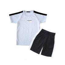 NEXT WALL/「520-12.13」キッズ 2本ライン セットアップ 半袖Tシャツ ハーフパンツ 子供服 男の子 女の子 半ズボン /503156217