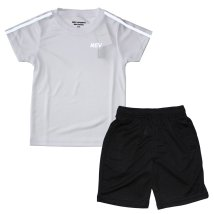 NEXT WALL/「N20-10.11」キッズ 2本ライン セットアップ 半袖Tシャツ ハーフパンツ 子供服 男の子 女の子 半ズボン /503156219