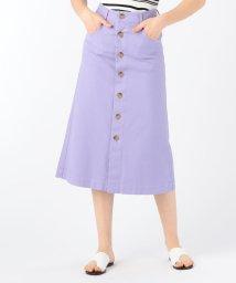 MACPHEE/コットンストレッチオックスフォード フロントボタンAラインスカート/503157802