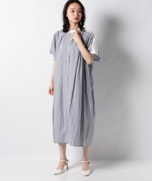 MARcourt/stripe tuck shoulder dolman ワンピース/503147642