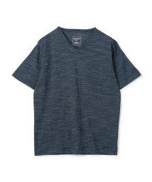 UNION STATION/スラブミジンボーダーVネックTシャツ/503158337