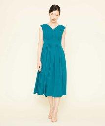Sybilla/ジョーゼットタックドレス/503158391