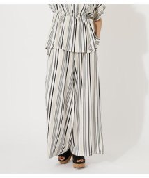 AZUL by moussy/GLOSSY COOL BELT WIDE PANTS/503158453