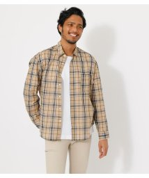 AZUL by moussy/LIGHTWEIGHT CHECK SHIRT/503158457