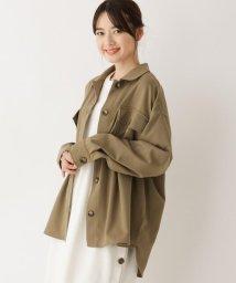 SHOO・LA・RUE Cutie Blonde/【M-L】フラップポケットミリタリーシャツ/503159240